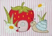 Stickdatei Frieda mit Erdbeere