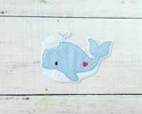 Stickdatei Doodle kleiner Wal einzeln