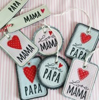 ITH Geschenkanhänger Mama und Papa