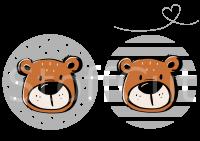 Plottervorlage Bär Buttons