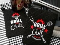 Stickdatei ITH Mug Rug Grill'n Chill