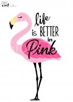 Plottervorlage Flamingo