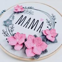 Stickdatei Blumenkranz für Mama